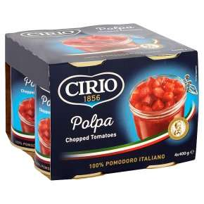 Cirio canned chopped tomatoes, 4 pack4x400g £1.42  with PYO @ waitrose