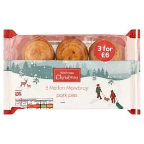 Waitrose 6 mini Melton Mowbray pork pies 300g  with PYO