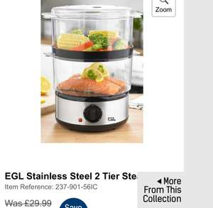 Stainless Steel 2 Tier Steamer was £29.99 now £8.99 + Free Delivery with code @ Studio