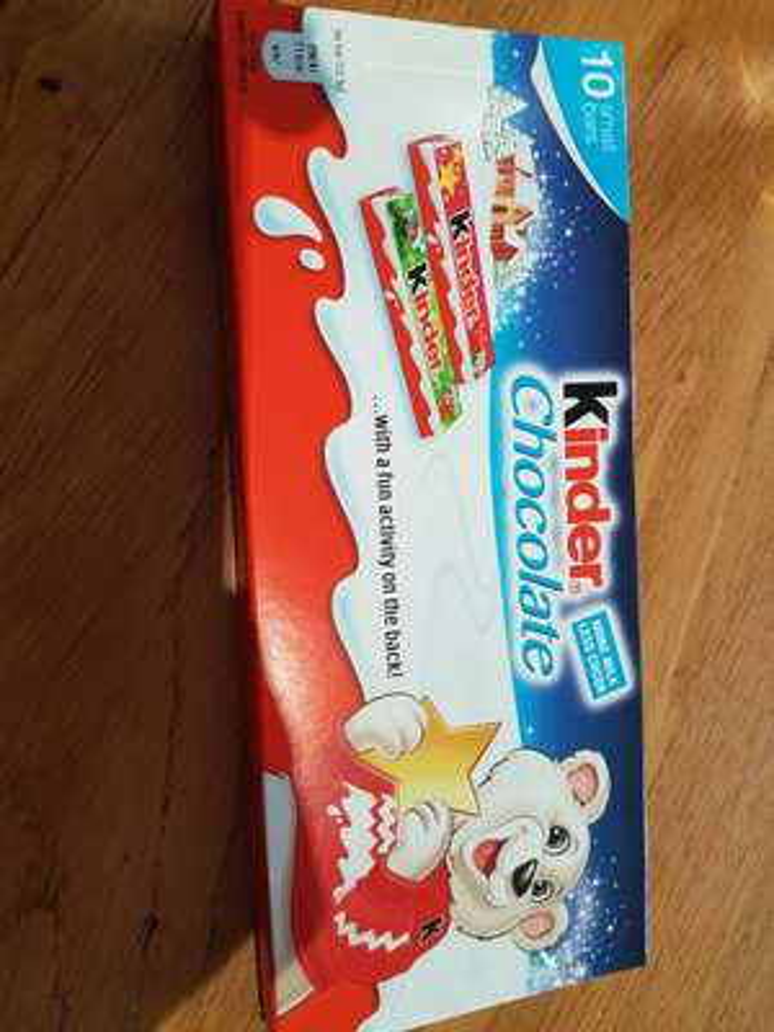 Kinder Chocolate - Co-op - 50p
