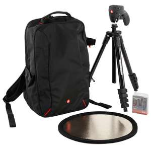 Manfrotto DSLR Accessories Starter Kit for Cameras with Backpack, Tripod, Reflector & UV Filter - £59.95 @ John Lewis