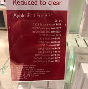 "iPad Pro 9.7"" 20% Off - 128gb £479 @ John Lewis Oxford Street"