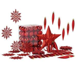 HOME 100 Piece Christmas Decoration Pack - Red in Argos for £2.29