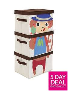Robot / Frog / Monkey / Dog / Crocodile Stackable Storage Boxes and more (sets of 3) Now £10 C&C at Very