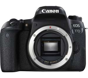 Canon 77D body £585 at Checkout +additional £85 Canon cashback so £500  @ Amazon
