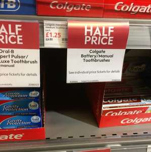Half price Colgate toothbrushes Waitrose - £1.25