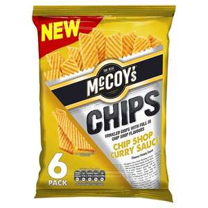 McCoys Chip Shop Curry Sauce or McCoys Chip Shop Salted Chips (6 Pack = 150g) Save 60p was £1.60 now £1.00 @ Tesco