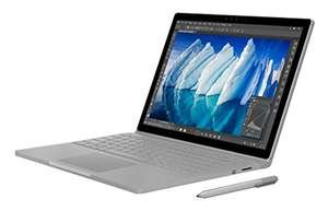Microsoft Surface Book (Intel i7-6660U 2.4GHz, 8 GB RAM, 256 GB SSD, Win10 Pro) £1449.99 @ Amazon