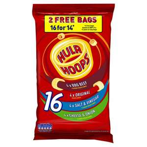 16 pack Hula Hoops for a £1 - bargain at Poundstretcher