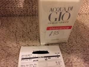 Acqua Di Gio 50ml reduced to £35 @ Boots instore