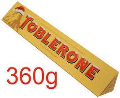 Toblerone 360gm half price in Superdrug.