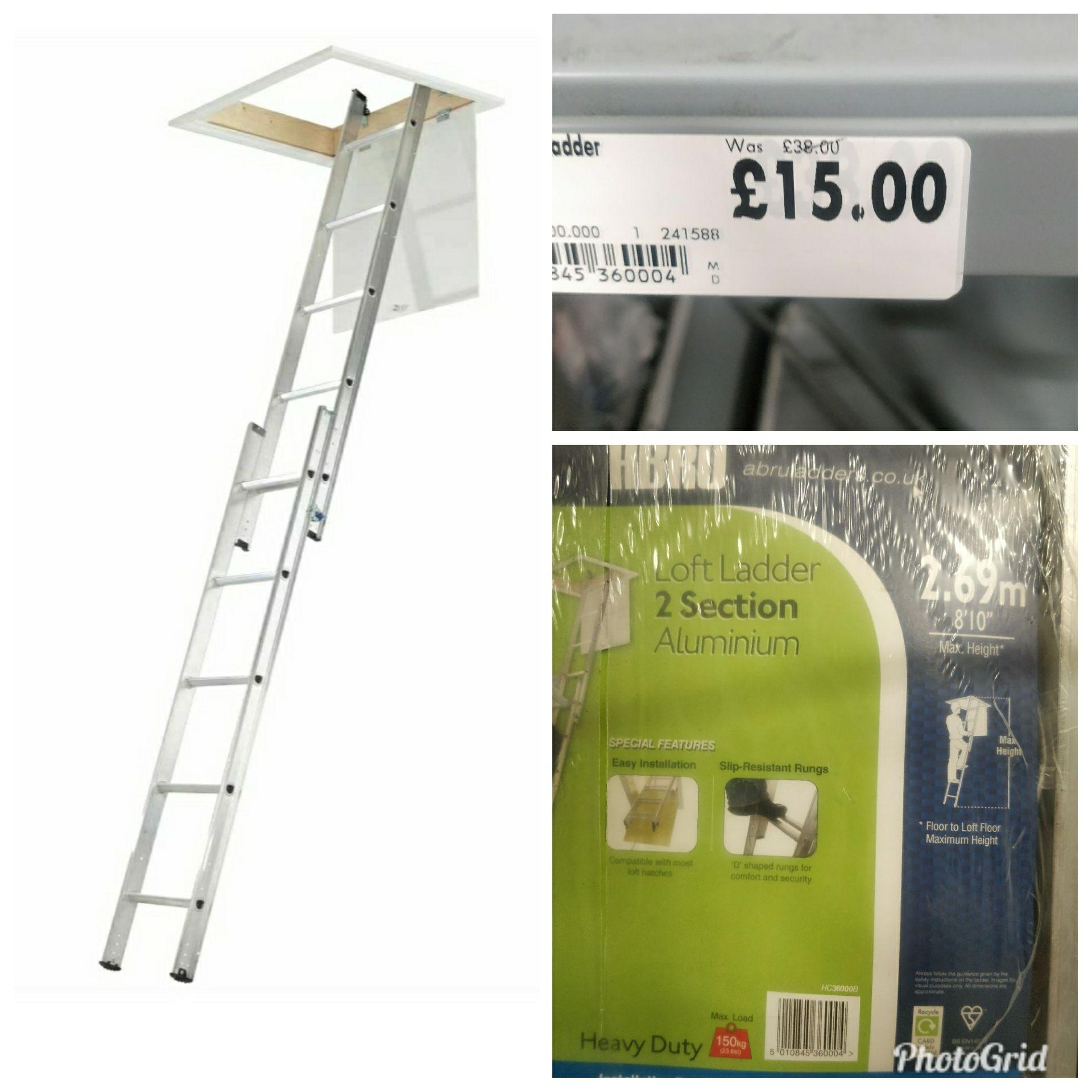 Abru 2 section loft ladder 2.69m £12.75 - Homebase