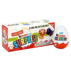 Kinder Egg Surprise 3 Pack £1.50 @ Asda