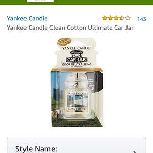 Yankee clean cotton car jar car air freshener £1.98 Prime / £5.97 Non Prime @ Amazon