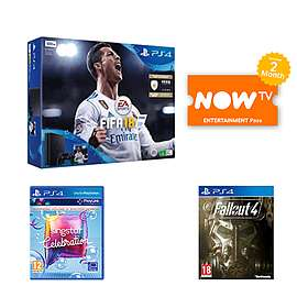 Playstation 4 500 GB Console with FIFA 18 + Singstar + Fallout 4 + 2 month NOW TV @ Game