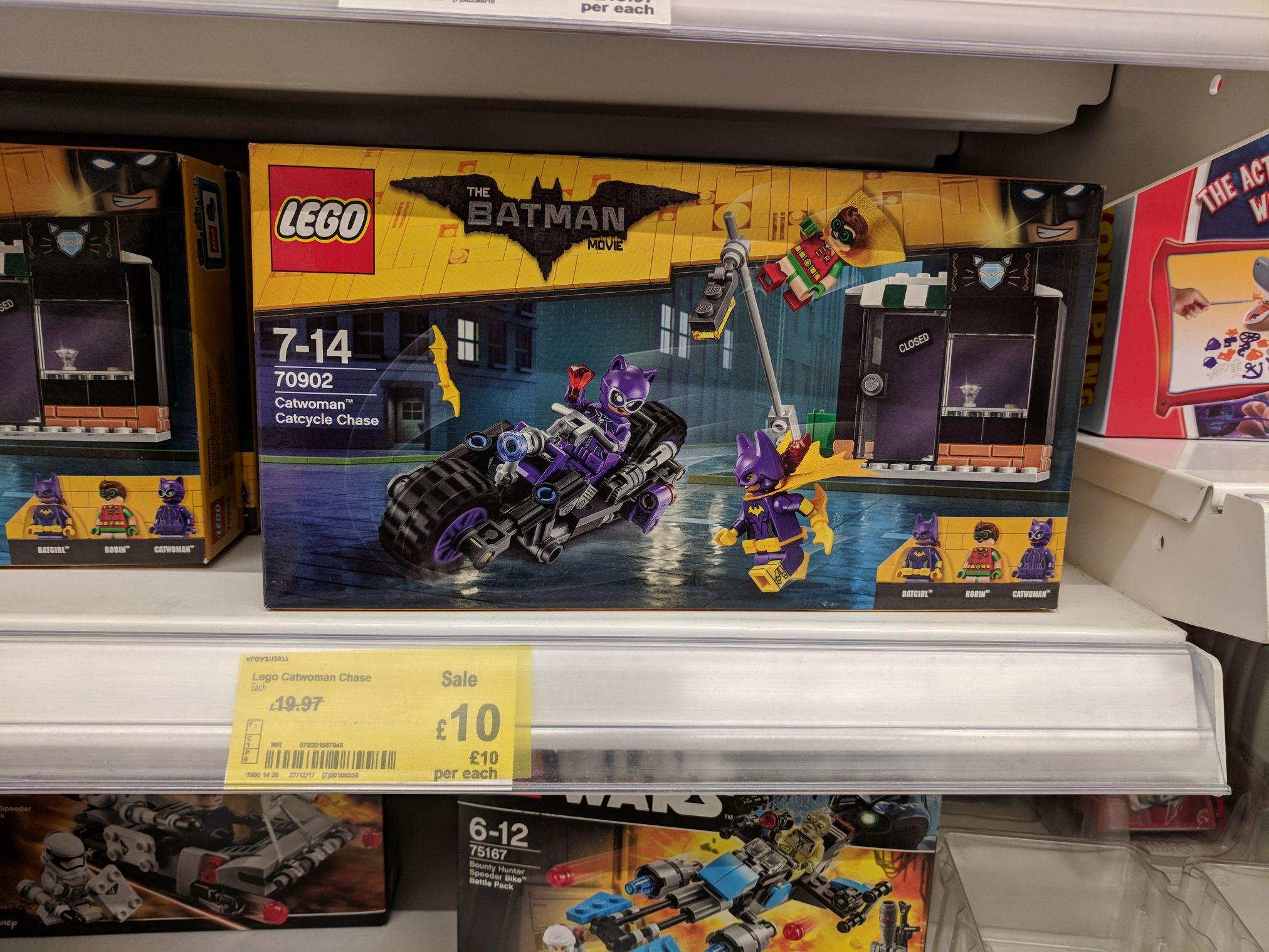 Lego Batman Movie Catwoman Catcycle Chase 70902 Set £10 @ Asda