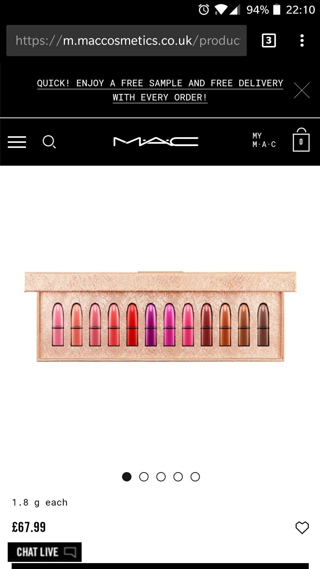MAC - Snow Ball mini lipsticks (12 x 1.8g) - Was £85, now £67.99