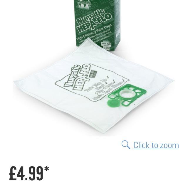 10 Henry Hoover bags half price C&C Argos - £4.99