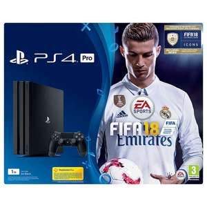 John Lewis: Black PS4 pro with FIFA 18 - £299.95