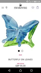 Swarovski butterfly on leaves @ swarovski - £95