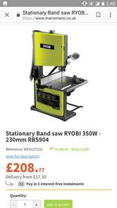 Bandsaw ryobi 350w 230mm rbs904 2 in stock 20877 manomano bandsaw ryobi 350w 230mm rbs904 2 in stock 20877 manomano keyboard keysfo Image collections