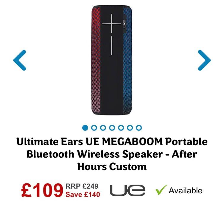 UE (ultimate ears) Megaboom speaker - £109 @ AO