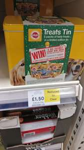 Pedigree Treat Tin Reduced to Clear @ Tesco - £1.50