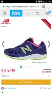 New Balance Womens W770 V5 Stability Running Shoes Blue/Purple - £25.99 + £4.49 @ M&M Direct