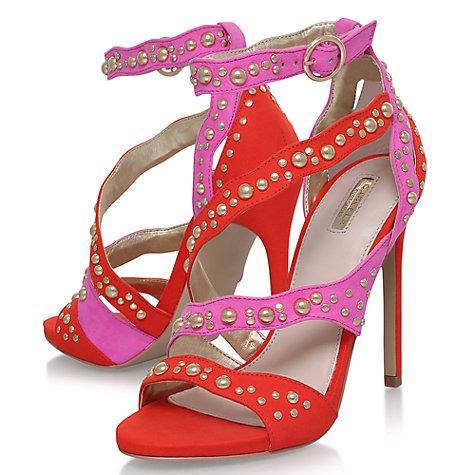 Carvela Gladly Multi Strap Stiletto Sandals, Red Comb - £29 @ John Lewis