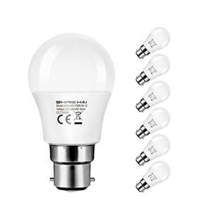 SHINE HAI B22 BC LED 4.5W Mini Globe Golf Ball Bulbs - 6-Pack £7.99 (Prime) £11.98 (Non Prime) @ Sold by Winsee (EU) Seller and Fulfilled by Amazon.