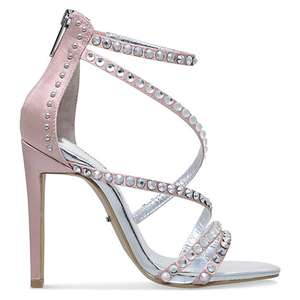 Carvela Grass Embellished Stiletto Heeled Sandals, Nude or Black @ John Lewis - £39