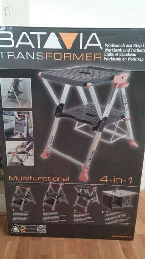 Batavia Transformer Multifunctional 4-in-1 Workbench and Stepladder - Homebase Wimbledon - £20 reduced from £89.99