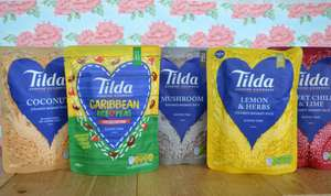 Tilda Microwave rice packets - Waitrose - Half Price  All Varieties - 79p