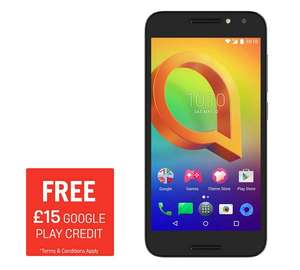 Sim Free Alcatel A3 Mobile Phone £89.95 @ Argos - after trade in and google play credit and Voucher Codes works out to  £14.99