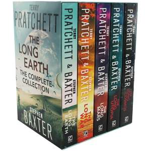 The Long Earth 5 Book Set by Terry Pratchett & Stephen Baxter now £9 w/code C+C @ The Works