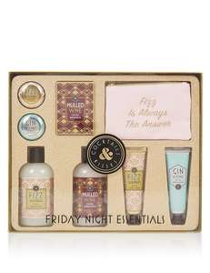 Friday Night Essentials Set was £30 now £9 C+C @ M&S ( Rose Toiletry Bag was £15 now £1.49 / Autograph Colour Full Days was £60 now £18 / Dazzling Gift Set was £40 now £12 + more in OP)