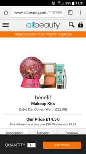 "Benefit ""cable car cuties"" set still in stock. free delivery over £20 - £14.50 @ All beauty"