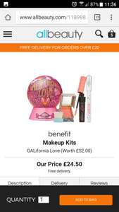 "Benefit ""GALifornia love"" still in stock free delivery - £24.50 @ All Beauty"