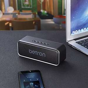Betron Bluetooth wireless speaker - £16.99 (Prime) £21.74 (Non Prime) @ Sold by Betron Limited ( VAT Registered) and Fulfilled by Amazon