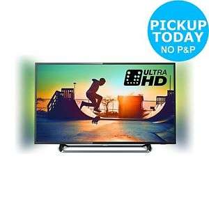 Philips 43PUS6262 43 Inch 4K Ultra HD HDR Ambilight Freeview Smart WiFi LED TV - £324.00 using code pny2018 (+ £20 Quidco) @ Argos eBay
