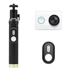 YI WiFi Action Camera Set Full HD 1080P155 Wide Angle Sport Camera, Ambarella A7LS Chip, Sensor from Sony, with Selfie Stick and Bluetooth Remote - White was £89.99 now £46.99 with promo @ Amazon (Sold by YI Official Store UK and Fulfilled by Amazon)
