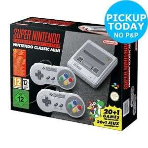 Nintendo Super Nintendo SNES Classic Mini Console £63.99 @ Argos On eBay Using 20% Off Code (FREE Click & Collect from your local Argos)