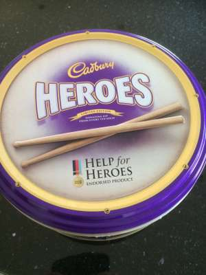 Cadburys Heroes 1KG Tin Help for Heroes instore Tesco - £3