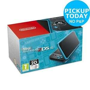 Nintendo 2DS XL Console - Black / Turquoise £103.99 @ Argos On eBay Using 20% Off Code (FREE Click & Collect from your local Argos)