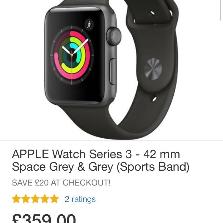 Apple Watch series 3 £271.20 @ Currys  /eBay