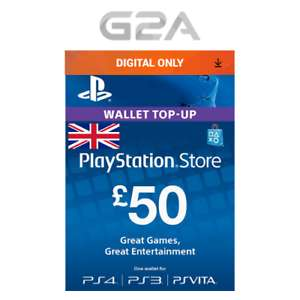 £50 Playstation Network Card for only £37.59 @ eBay g2a