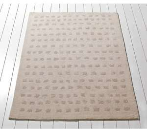 Heart of House Broadford Squares Rug - 170x120cm - Cream £29.99 @ Argos