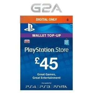 £45 PSN card for £34.39 from G2A on eBay using code