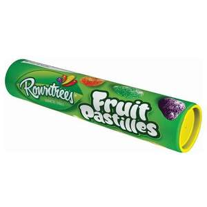 Fruit pastilles tub 125g instore at Tesco for 50p