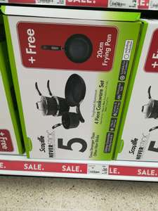 Scoville Neverstick 4 piece cookware set with additional 5th pan in store @ asda for £30